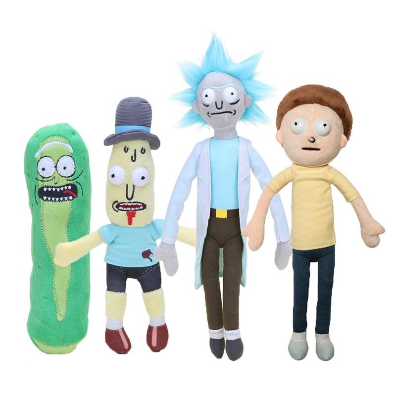 Adult Swim Season 3 American Cartoons Pickle Rick Sanchez  Morty Smith Mr Poopybutth Plush Stuffed Doll Toys