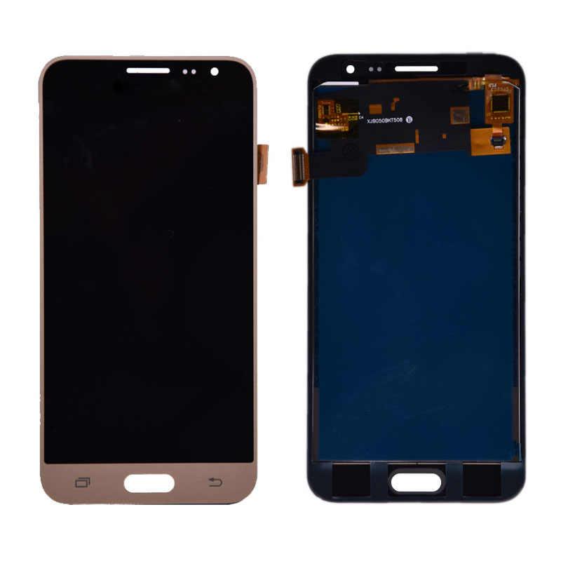 لسامسونج غالاكسي J3 2016 J320 J320A J320F J320M شاشة الكريستال السائل مع مجموعة المحولات الرقمية لشاشة تعمل بلمس يمكن ضبط سطوع