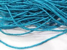 2 Strands 20mm Howlite Turquoise Batu Ran Gelap Bule Hijau Kuning Macam Hitam Longgar Bead