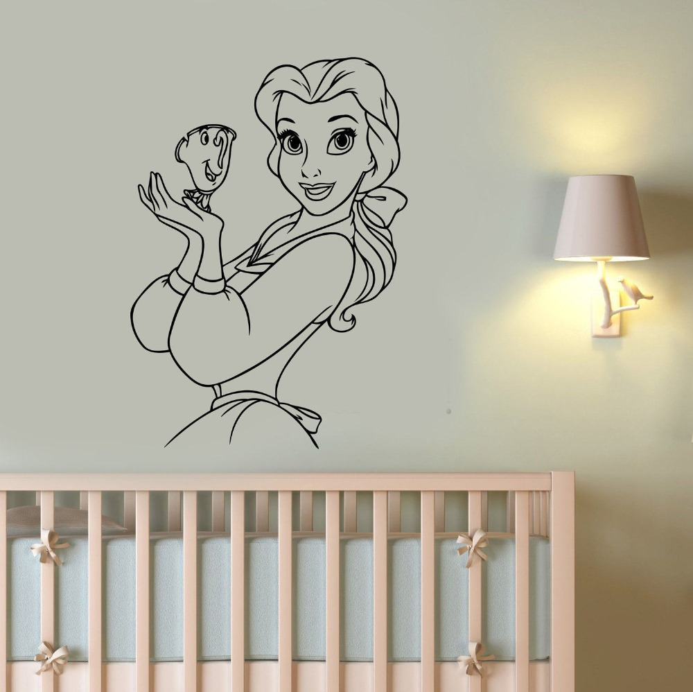 Princess Belle Wall Decal Beauty And The Beast Wall
