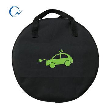 QNBBM EV torba na elektryczny samochód EVSE przenośny SAE J1772 IEC62196 typ 2 EV kabel do ładowania sprzętu pojemnik tanie i dobre opinie Po lewej stronie QNBBM EV bag PET Fibre 0 6KG China Black Carrier Bag
