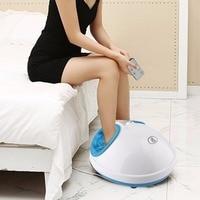 220V Electric Antistress Heating Therapy Shiatsu Kneading Foot Massager Vibrator Foot Massage Machine Foot Care Device