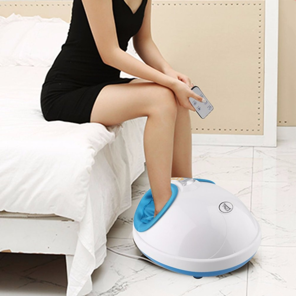 220V Electric Antistress Heating Therapy Shiatsu Kneading Foot Massager Vibrator Foot Massage Machine Foot Care Device Hot New foot machine foot leg machine health care antistress muscle release therapy rollers heat foot massager machine device feet file