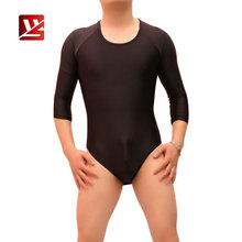 MEISE Men Bodysuit High Elastic Jumpsuit Thin Breathable Tight Lingerie Smooth Homme Gay Wear Leotard Base Costume NN12