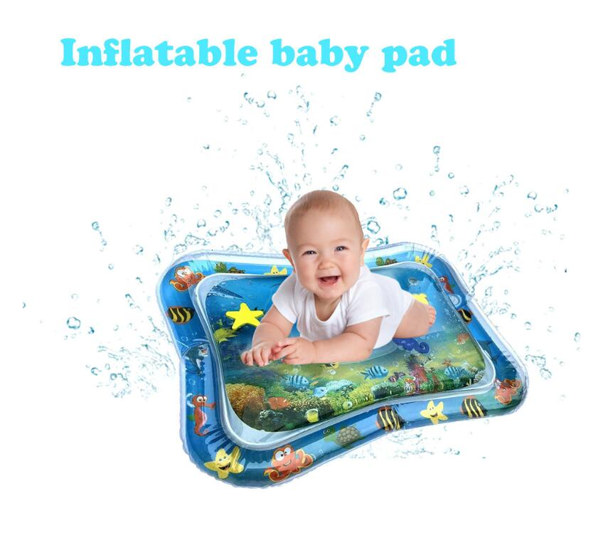 Baby Kids Water Play Mat Inflatable Infant Tummy Time Toddler Fun Infants water water Inflatable mat Fun Activity Play Center