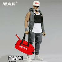 F 079B 1/6 Scale Man Clothes Set Clothing Baseball Cap Accessories Model for 12 Man Strong Muscular Action Figure Body