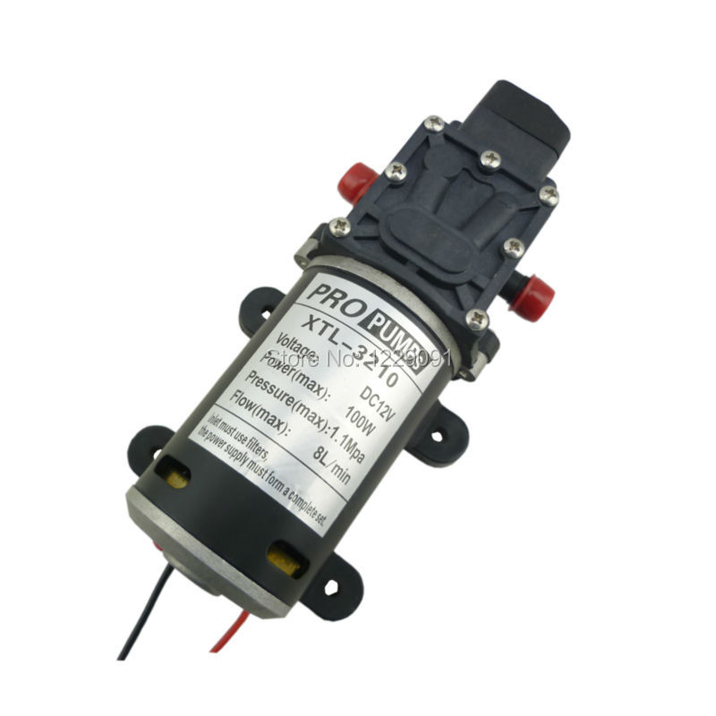 12v 100w 8L/min Automatic pressure switch type Diaphragm high pressure DC small water pumps
