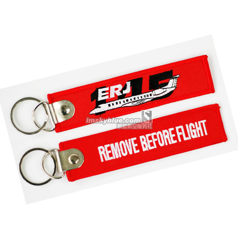 Brazil EMB ERJ145 Backactor Luggage Red with Plane on, Pilot Bag Tag, Good Gift for Aviation Lover