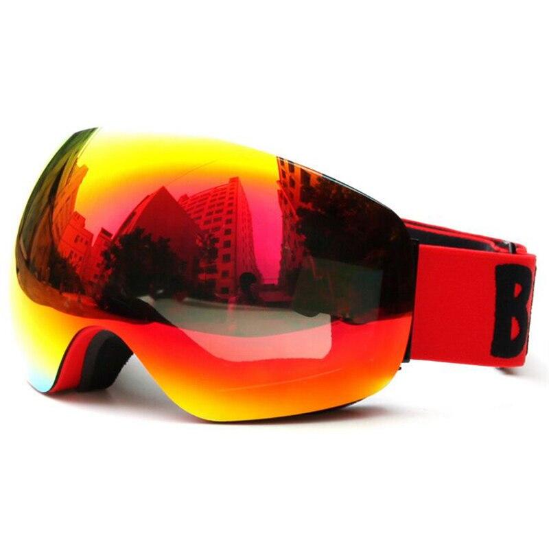 Lunettes de Ski détachable Anti-buée UV400 lentille large vue grandes lunettes Ski Snowboard motoneige lunettes de Skate hommes lunettes pour femme