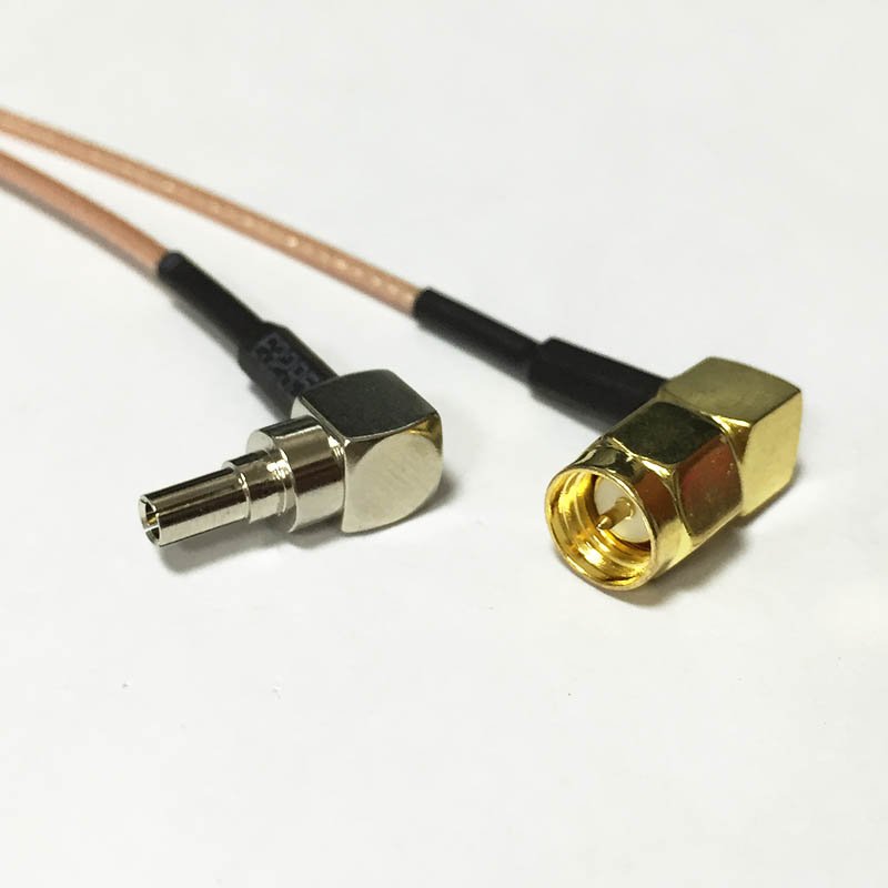3G Antenna Cable CRC9 Right Angle Switch SMA Male Right Angle RA Pigtail Cable RG178 15cm Wholesale