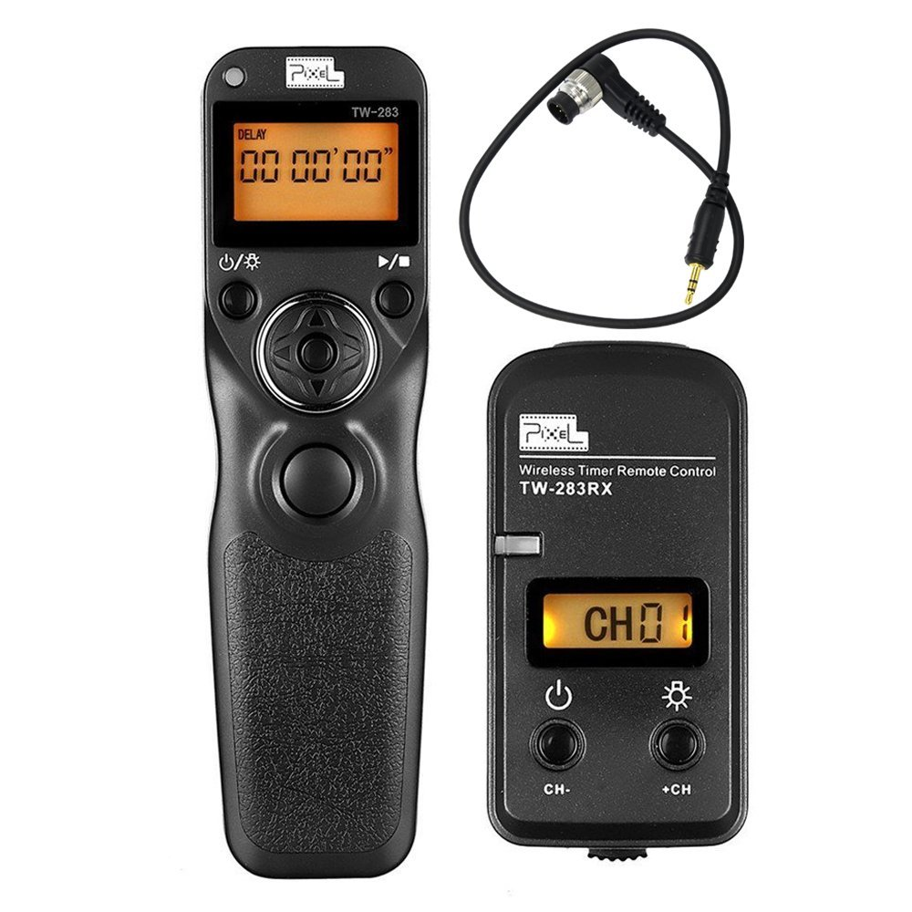 PIXEL TW-283 DC0 Wireless Timer Shutter Release Remote Control For Nikon D810A D810 D800E D800 D700 D500 D300S D300 D200 D5 D4