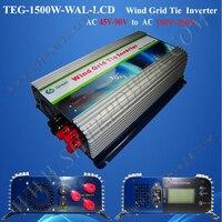 Ac 45 90v To Ac 220v 230v 240v 1500w Power Inverter For Wind Generator With Lcd