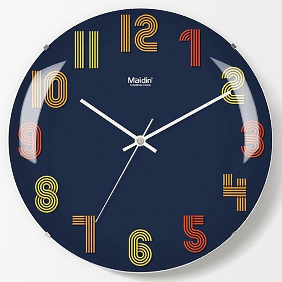 European Wall Clock Fashion Living Room Wall Clock Modern Design Kitchen Clock Wall Large Decorative Metal Wall 50Q166