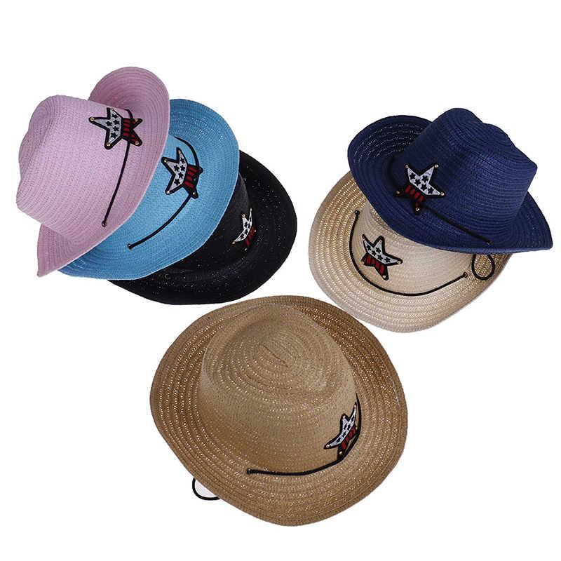 ริบบิ้นรอบแบนหมวกน่ารักหมวกเด็กหญิงโพลีเอสเตอร์ขนาดใหญ่ Brim Beach ฤดูร้อน Boater หมวกชายหาดสำหรับเด็ก