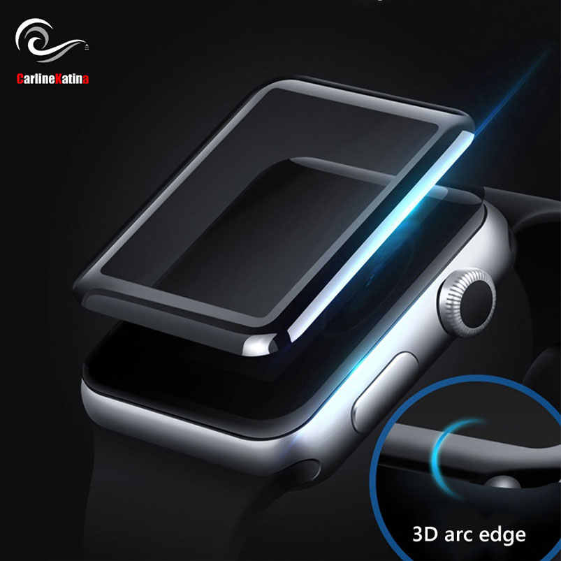 Full Cover Tempered Glass Screen Protector Film for iWatch for Apple Watch Series 4 3 2 1 38MM 42MM 40MM 44MM 9H Case 3D 6D