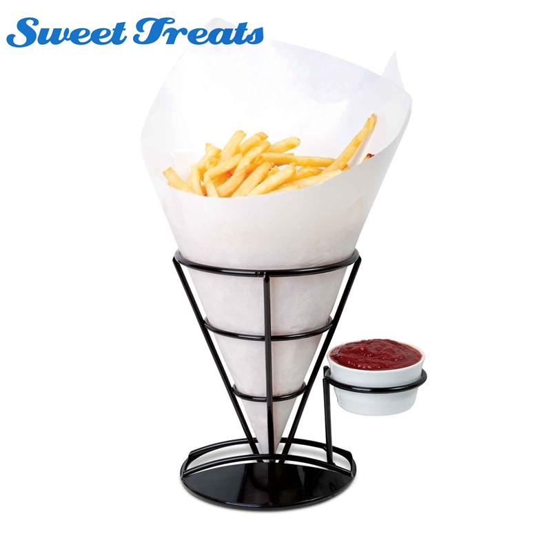 Gentle 1 Pcs 304 Stainless Steel Holder For Egg Waffle Maker French Fry Stand Cone Basket Holder Kitchen Appliance Parts Home Appliance Parts