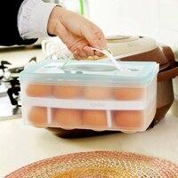 K2 Home Eggs Container Storage Box 24 Grid Bilayer Basket Organizer Kitchen Gadgets Items Refrigerator Storage Tool