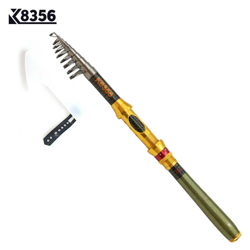 K8356 Spinning Carbon Portable Telescopic Fishing Rod 1.8/2.1/2.4/2.7/3.0M SuperHand Fishing Lure Tackle Sea Rod Ocean Rod