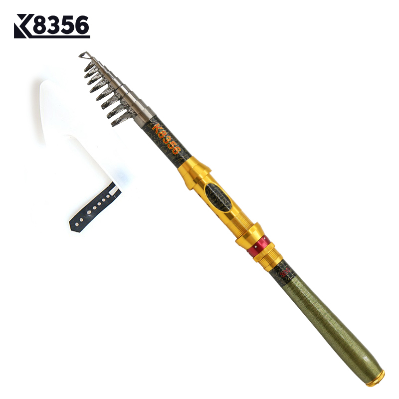 K8356 Spinning Carbon Portable Telescopic Fishing Rod 1.8/2.1/2.4/2.7/3.0M SuperHand Fishing Lure Tackle Sea Rod Ocean Rod цена