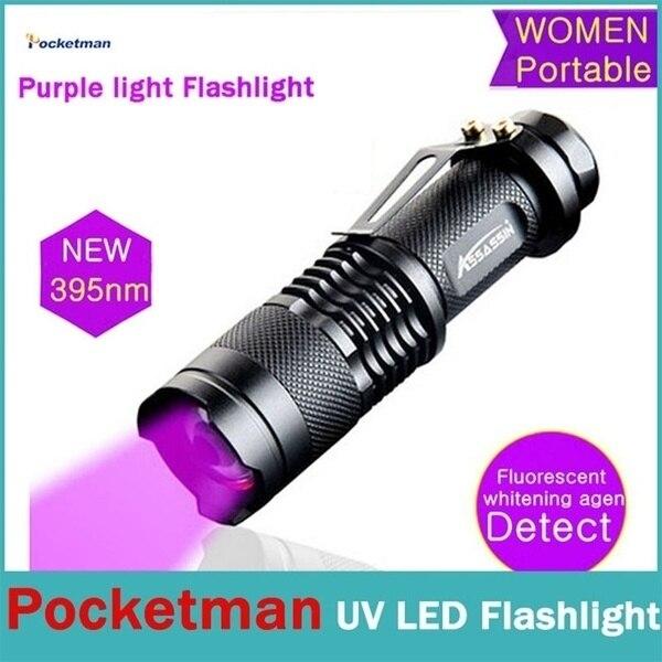 395nm Led Uv Zaklamp Zaklamp Ultra Violet Licht Blacklight Uv Lamp Voor Marker Checker Detectie-M25