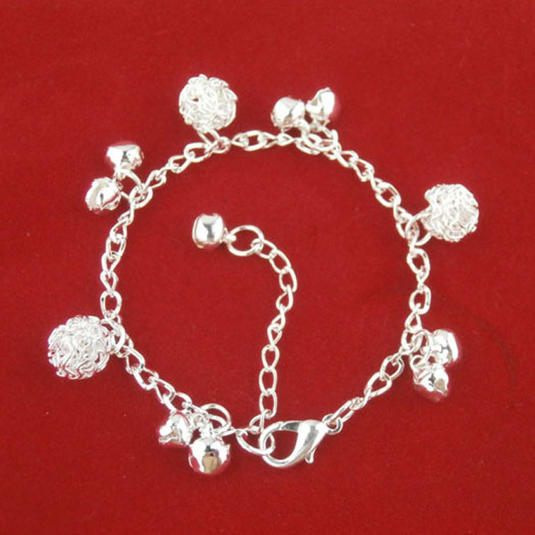 Новый стиль браслет колокол мяч сплава платины толщиной серебряный браслет оптом