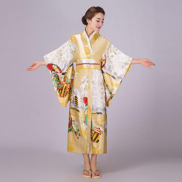 Леди Японской Традиции Кимоно Ночной Рубашке С Оби Винтаж Длинные Атласные Пижамы Повседневная Главная Халат Ретро Косплей Пижамы 103103
