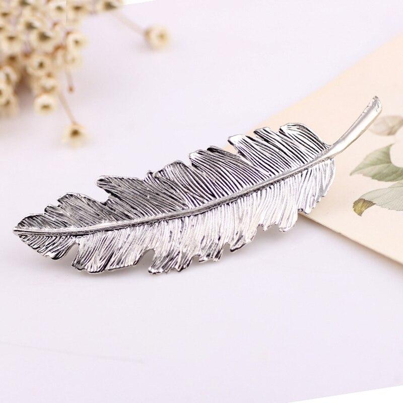 1Pcs Shape Leaf Shape Moda Clip Metal Barrette Clips për Flokë - Aksesorë veshjesh - Foto 4