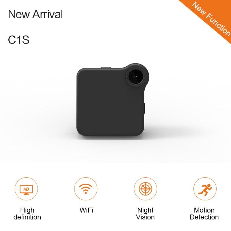 C1S Mini Web Camera WIFI P2P IP DV Video Sound Recorder Multi Portable HD 720P H.264 Micro DVR Action Motion Detection Flexible