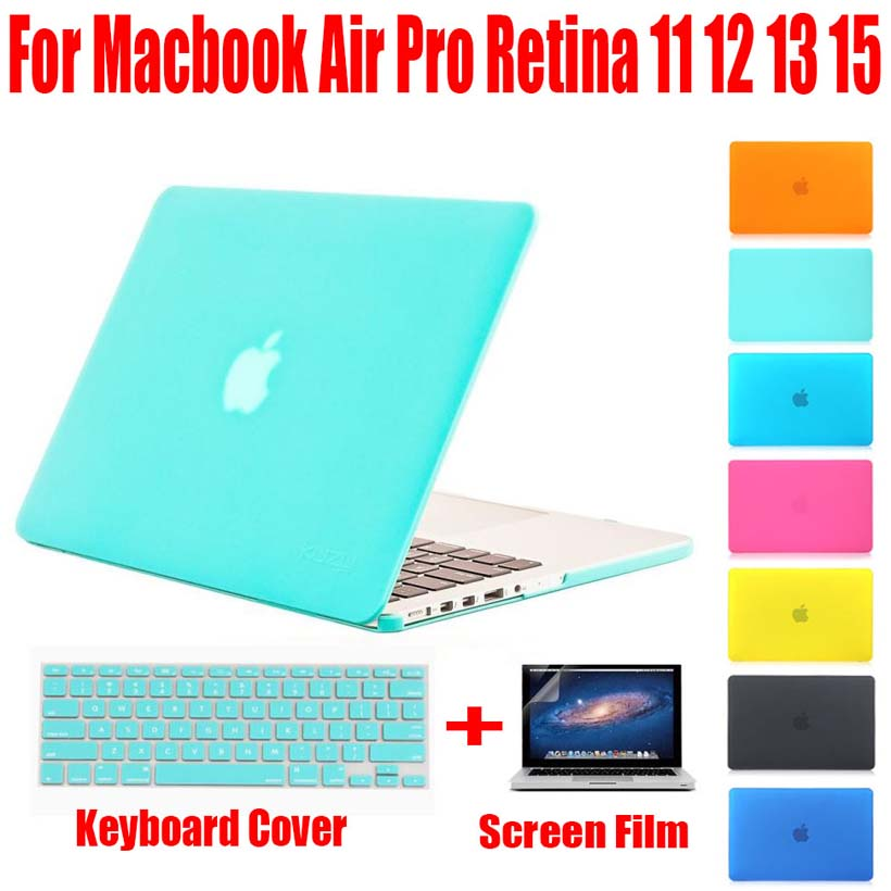 NOVINKA Módní PC krytka z tvrzeného matného krytu pro Apple MacBook Air Pro Retina 11 12 13 15 taška na notebook Mac For Mac 13,3 palce MB01