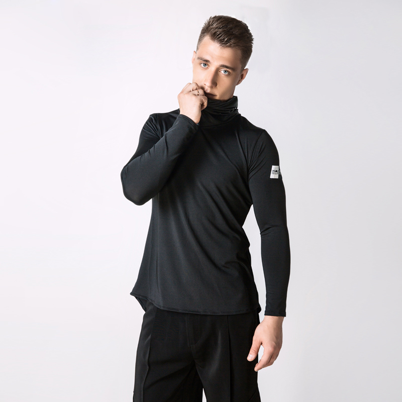 Hot Sell Ballroom Latin Competition Dance Tops For Men Cha Cha Rumba Long Sleeves Practice Shirt Professionl Stage Dancing Wear