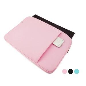 """Image 3 - Luva macia saco do portátil caso para macbook ar pro retina 13 11 15 14 """"para mac bolsa capa para notebook telefone mouse adaptador cabo"""