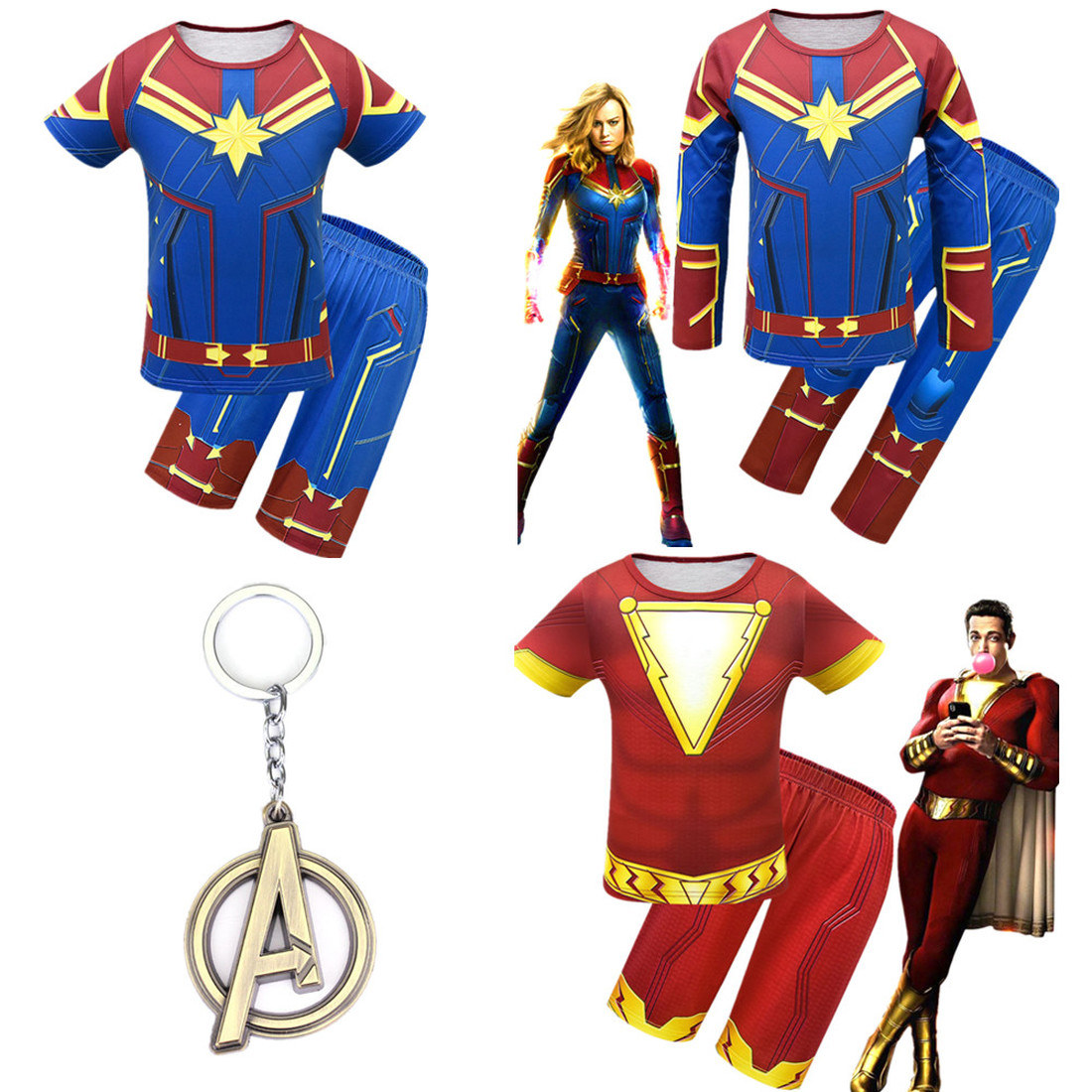2019-new-avengers-4-children's-sets-children-cosplay-captain-font-b-marvel-b-font-costume-halloween-party-thunder-shazan-cosplay-boys-clothes