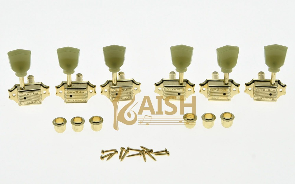 где купить Wilkinson 3x3 Deluxe Vintage Tuners Tuning Keys Machine Head for LP Gold дешево