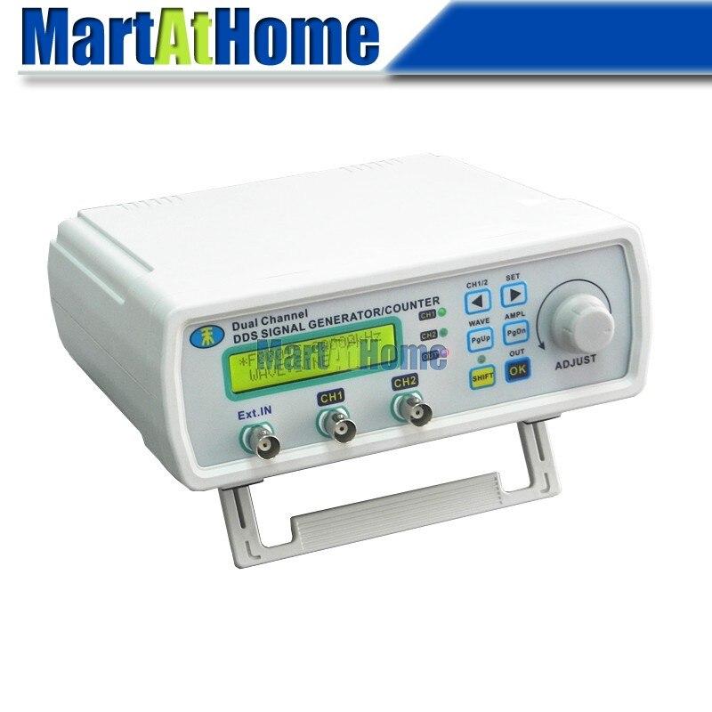 Livraison gratuite générateur de Signal DDS haute précision 12 MHz 2CH LCD forme d'onde arbitraire onde sinusoïdale/carrée + balayage + compteur de fréquence # BV304 @ CF