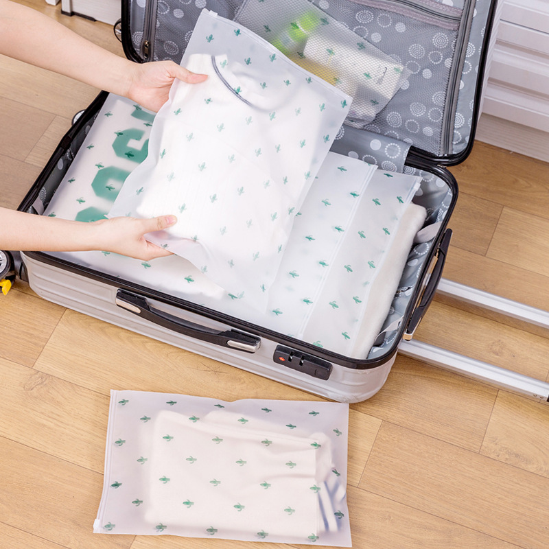 Plant Cactus Transparent Cosmetic Bag Travel Makeup Case Women Zipper Make Up Organizer Storage Pouch Toiletry Wash Bath Kit Box