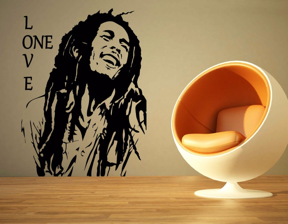 Bob Marley Reggae Rasta Jamaica Large Vinyl Transfer Stencil Decal Sticker Wall Art Home Room Decorative S M L 80 Colors In Underwear From Mother Kids On