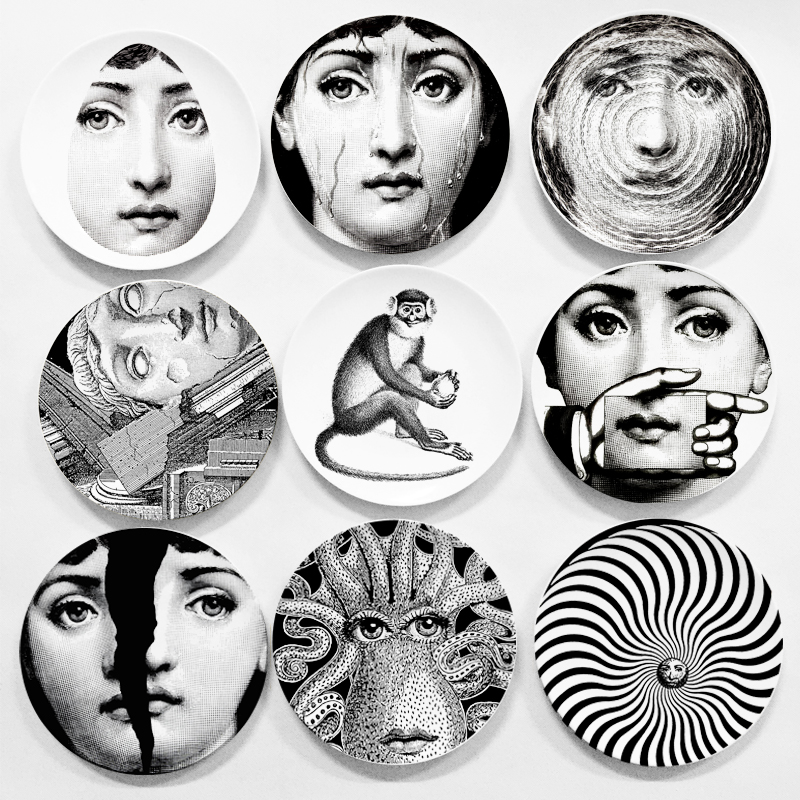 Wholesale Fornasetti Plate Nordic Style Home Bar
