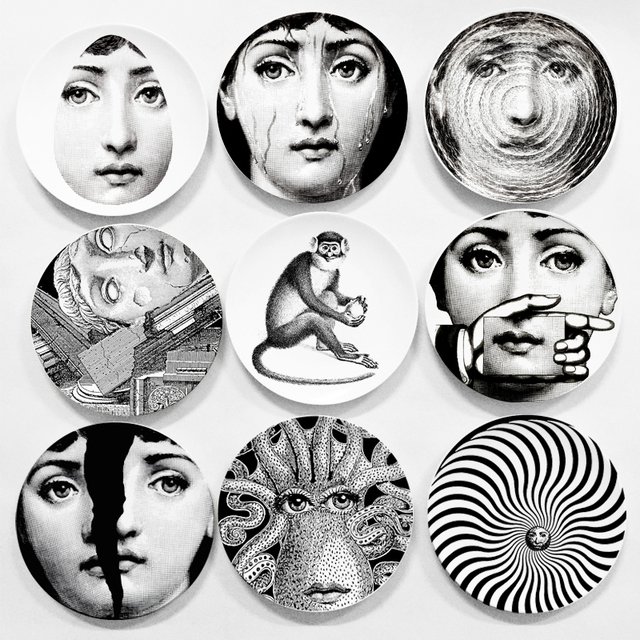 wholesale fornasetti plate nordic style room decorative dish milan