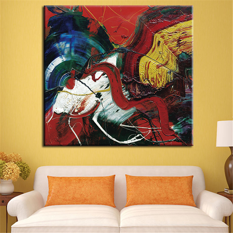 Single the most famous living room abstract art wall - Oil painting ideas for living room ...