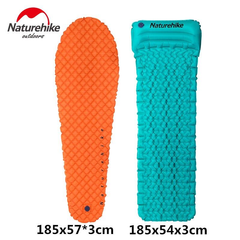 NatureHike Inflating Sleeping Pad Outdoor Lightweight Camp Air Mattress Hiking Camping Mat with Pillow