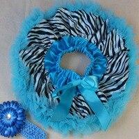Baby tutu skirt Print zebra fluffy baby pettiskirt daisy flower newborn headband baby set birthday gift