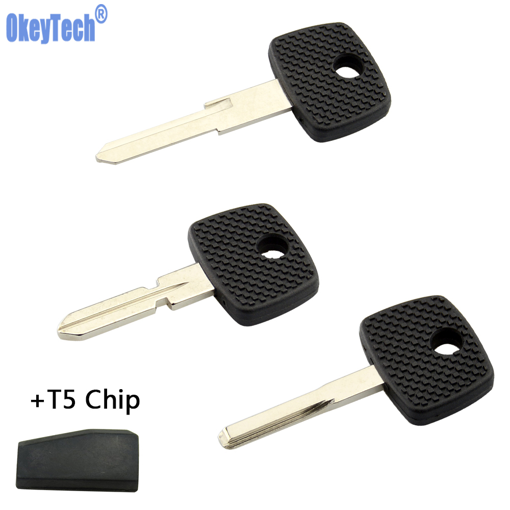 OkeyTech Replacement Blank Transponder Key Shell With T5 For Mercedes Benz Vito Actros Sprinter V Class HU39 HU64 HU72 Blade