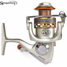 Sougayilang Full Metal Body 12+1BB Fishing Reel Wheels 5.5:1 High Speed Carp Saltwater Freshwater Spinning Reels De Pesca