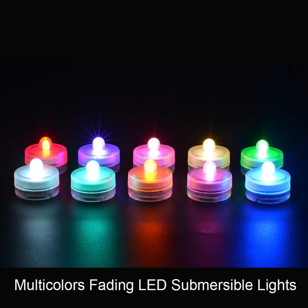 12pcs Wedding Waterproof Floralytes Decoration Battery Operated Underwater Mini LED Tea Light Home Party Table Vase Lighting