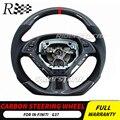 Углеродное Рулевое колесо для Infiniti G37 руль из углеродного волокна Замена кнопки управления подушка безопасности весло переключения внутре...