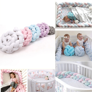 1M/2M/3M Handmade Braid Weaving Nodic Knot Newborn Bed Bumper Long Knotted Braid Ledikant Bumper Baby Crib Bumper Room Decor New