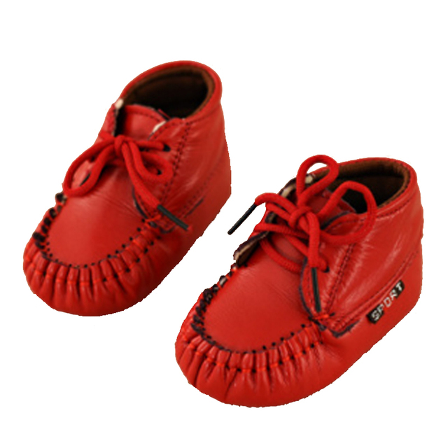 New Baby Leather Breathable Fashion Sneakers Boys Girls Newborn First Walker Shoes Soft Infants Crib Moccasins Toddler 0-18month