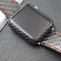 Protector Cover For Apple Watch Series 4 Real Carbon Fiber Case 40 44mm Ultra Thin Shell For iWatch Series 3 2 1 Watch Cases