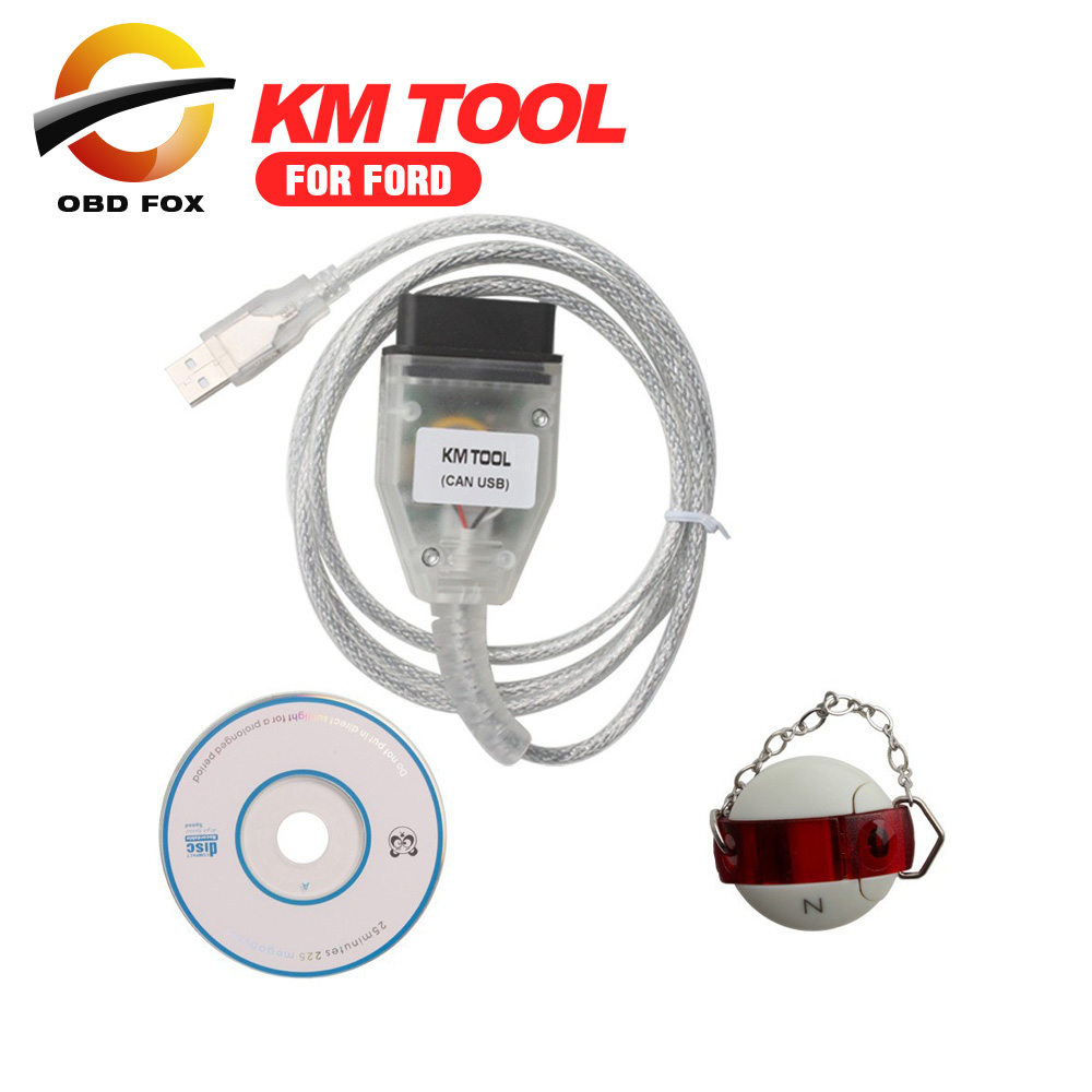 Aliexpress com buy professional km tool for ford can bus with usb dongle for mileage correction odometer read and write km dhl free from reliable bus