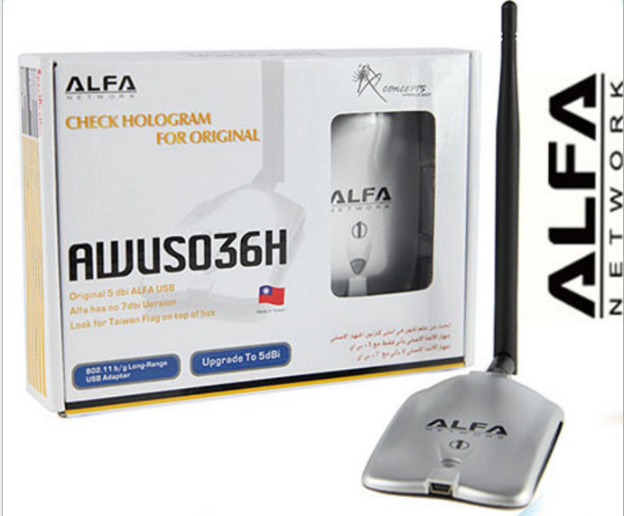 New Update ALFA AWUS036NH Network Ralink 3070 2000MW ALFA Wireless WiFi USB Adapter With 5dbi Anenna 1Set